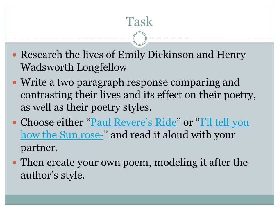 emily dickinson and her poetic style Introduction and text of poem, on this wondrous sea emily dickinson's fourth poem in thomas h johnson's the complete poems of emily dickinson may be thought of as the beginning of her true style and content.