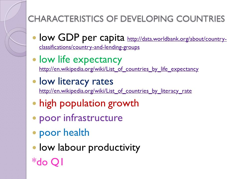 Chapter Developed Developing Countries With A Partner - List of countries by gdp per capita