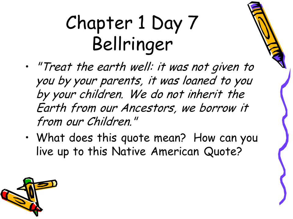 """What Does This Quote Mean Amazing Chapter 1 Day 2 Bellringer """"No One Ever Gets Far Unless He Or She"""