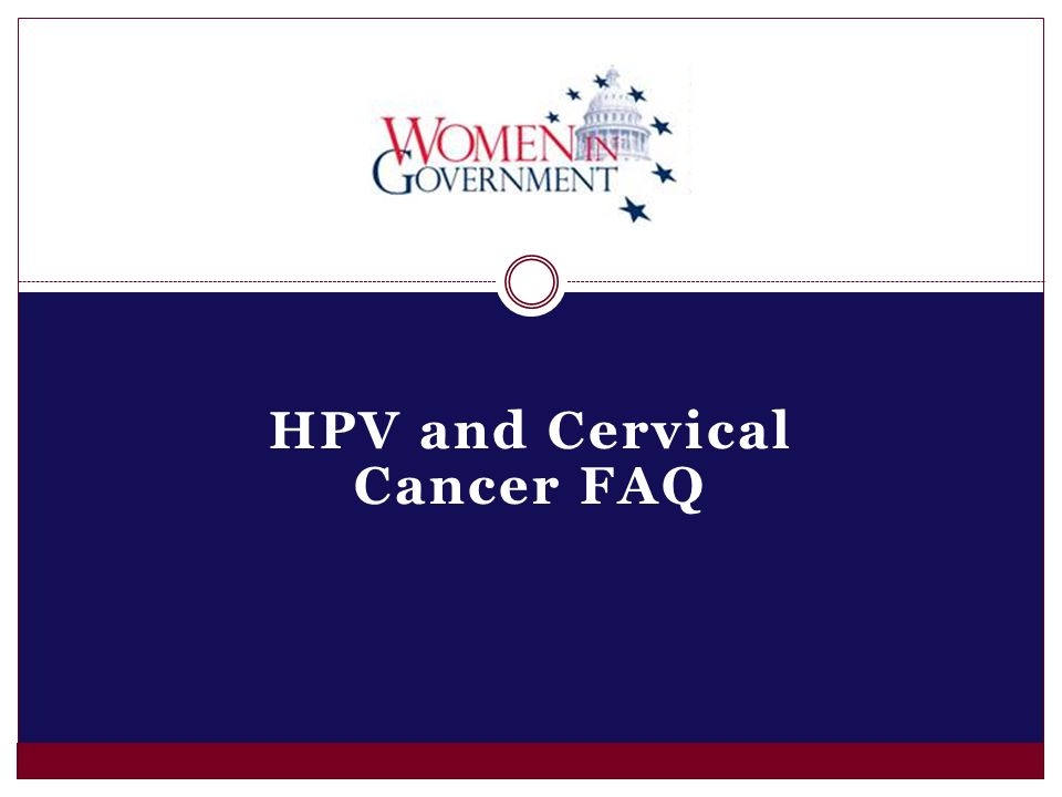 HPV and Cervical Cancer FAQ