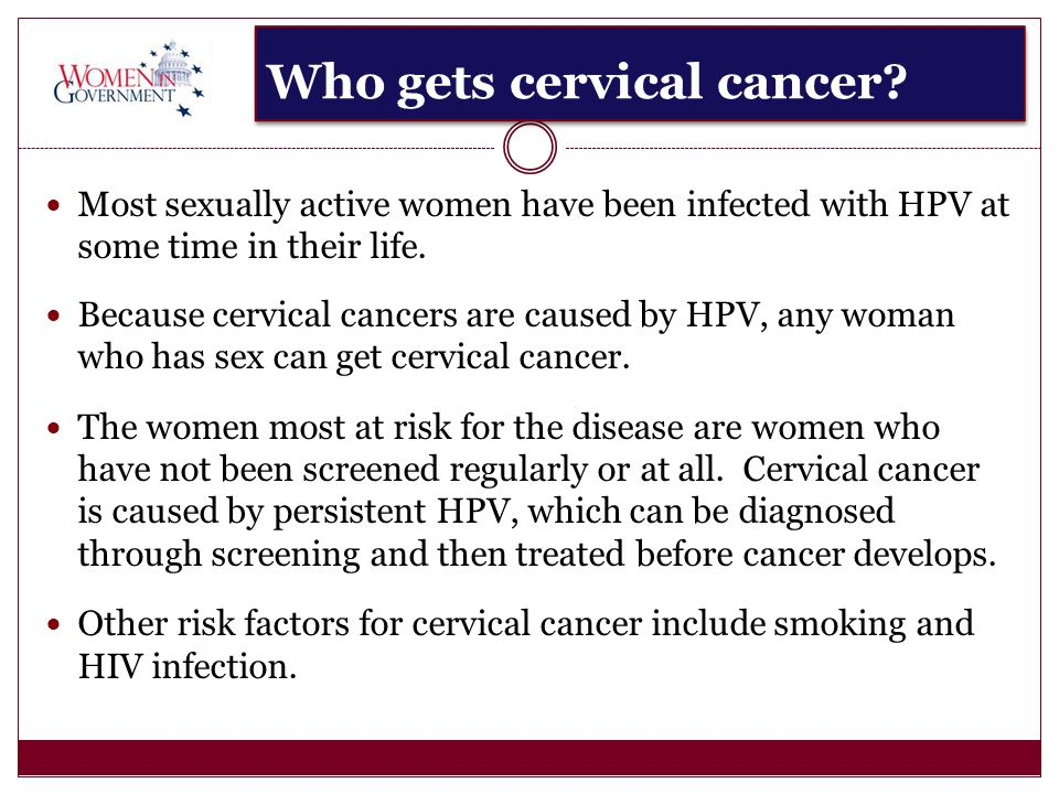 Who gets cervical cancer.