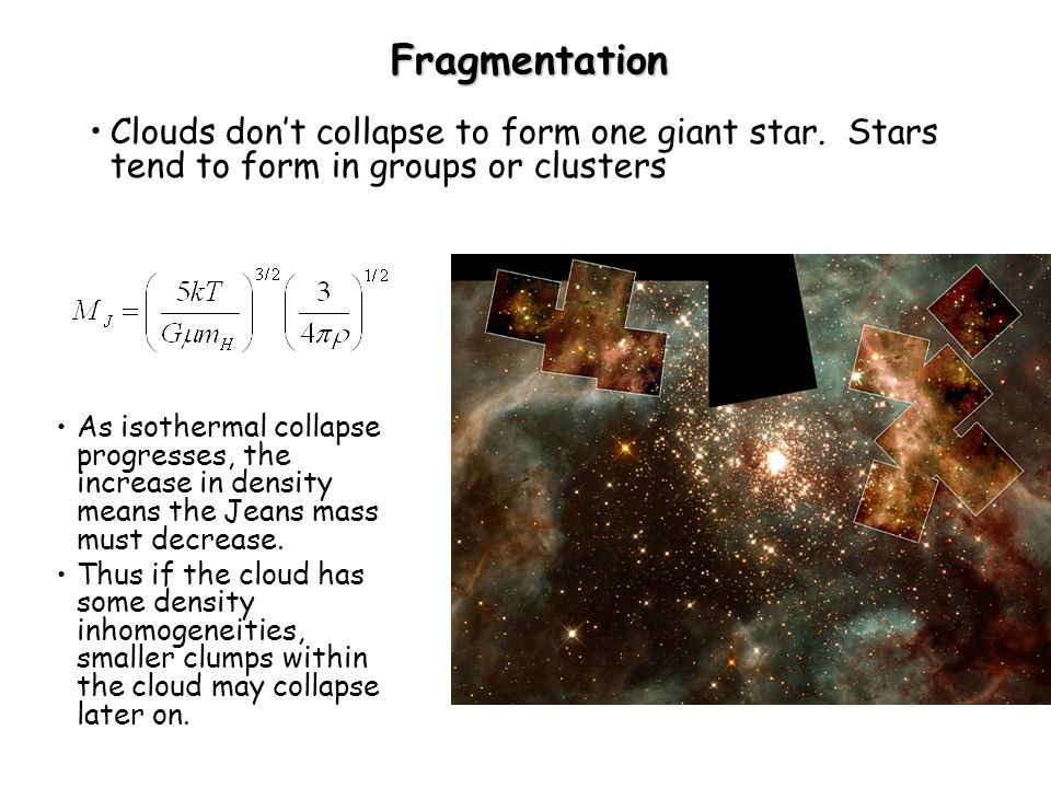 Lecture 15 main sequence evolution. Recall: Initial cloud collapse ...