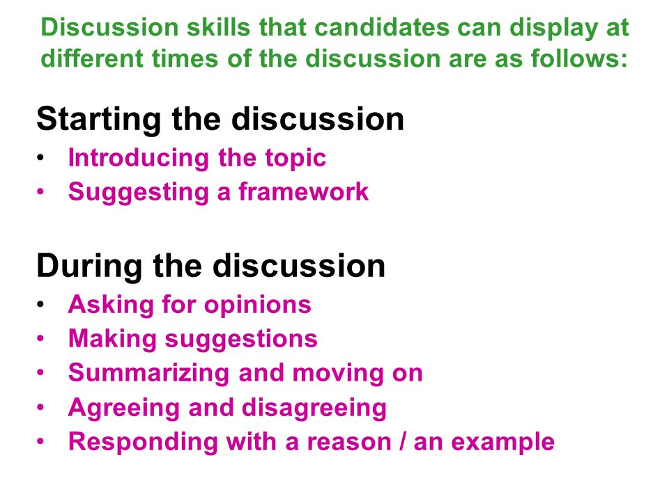 discussion skills in groups This may be because of many reasons ranging from bad communications skills to fear to pop-off in front of a group group discussions for interviews are not a.