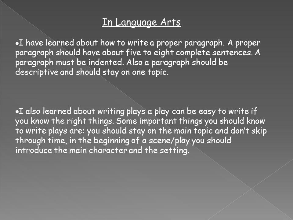 proper use of language in writing