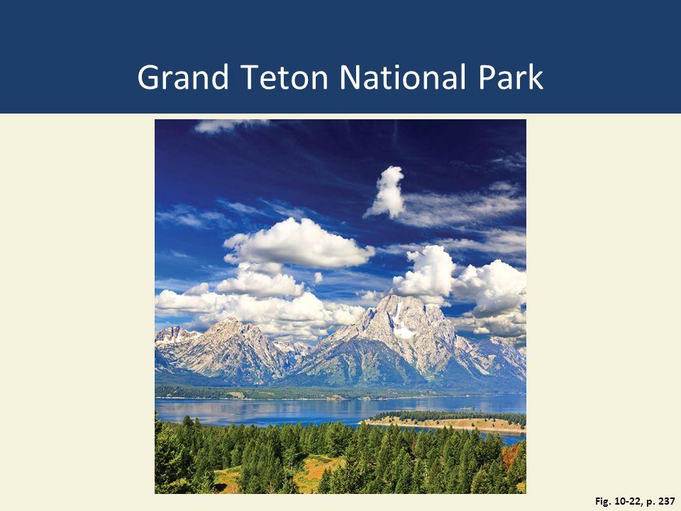 Grand Teton National Park Fig. 10-22, p. 237