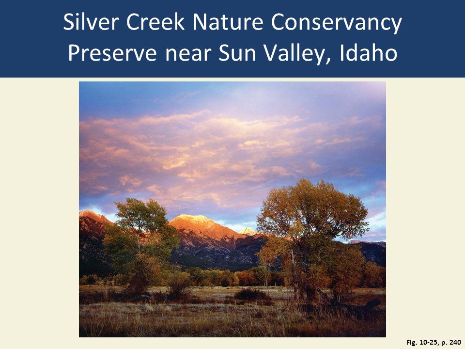 Silver Creek Nature Conservancy Preserve near Sun Valley, Idaho Fig. 10-25, p. 240