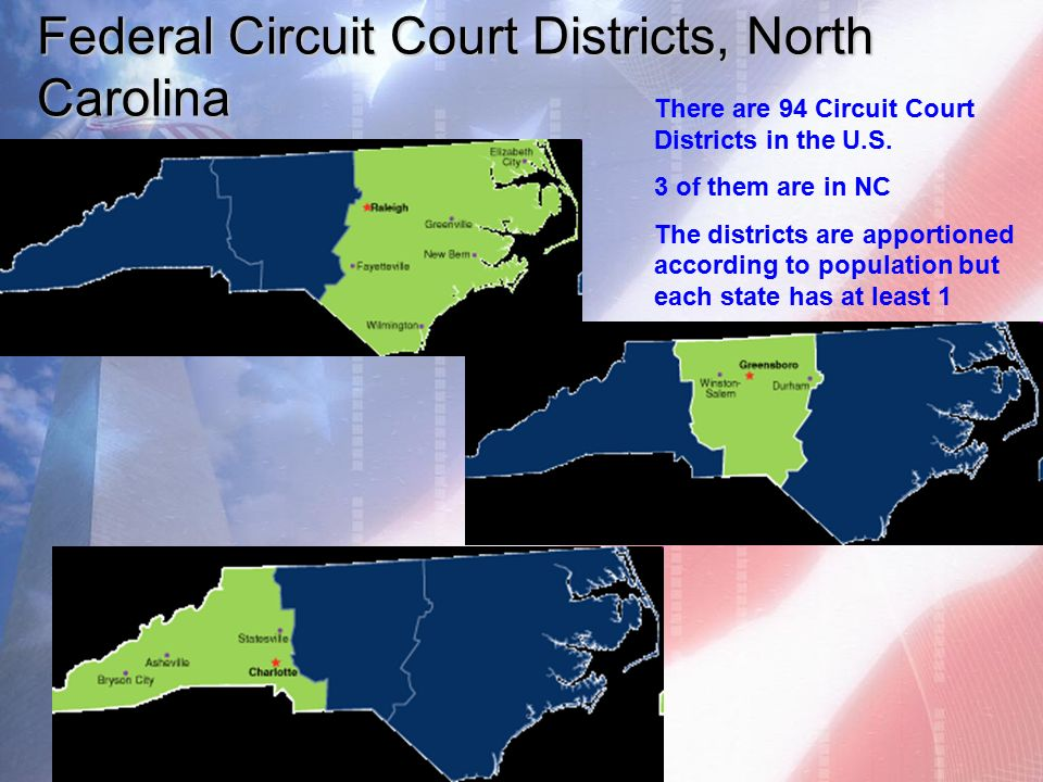 6 federal circuit court districts