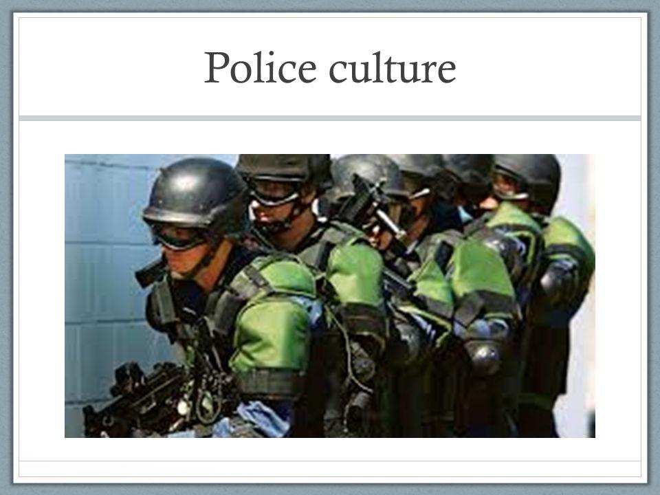 Police culture