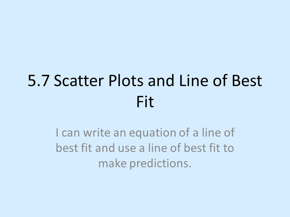Scatter Plots And Lines Of Best Fit Worksheet Answers Bhbrinfo – Line of Best Fit Worksheet