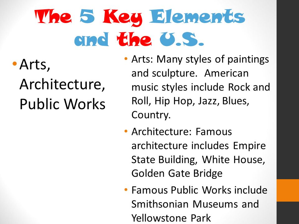 The 5 Key Elements and the U.S.