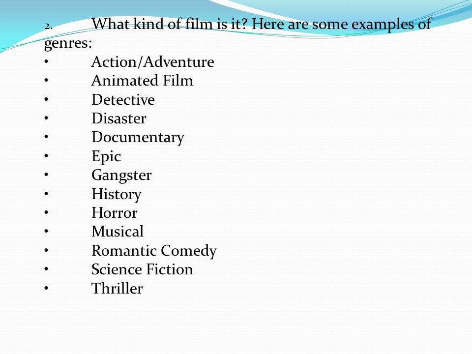 movie genre essay
