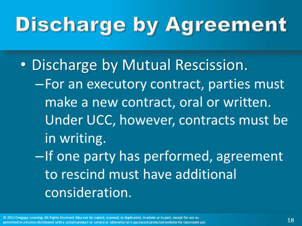 What is a condition precedent and how does it affect a partys duty discharge by mutual rescission discharge by mutual rescission platinumwayz