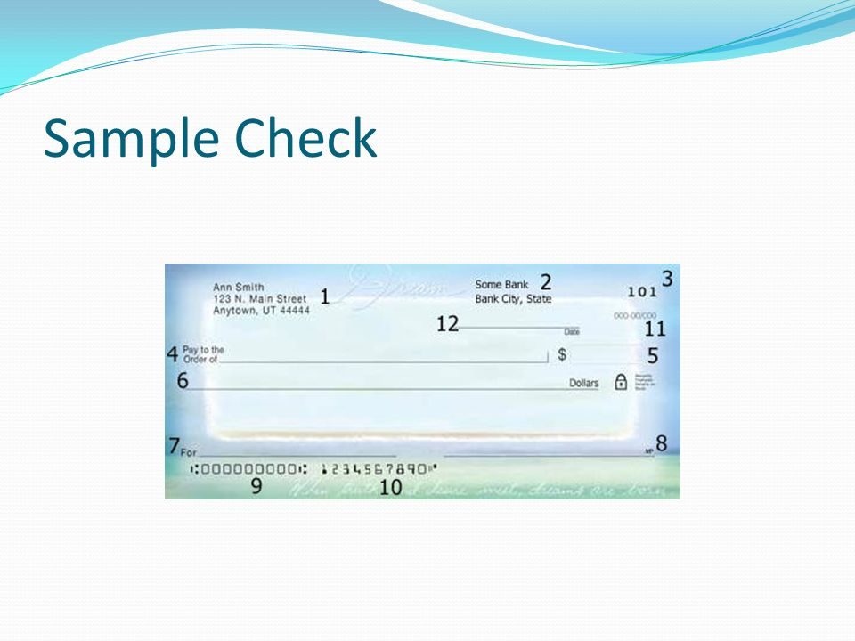 an overview what is a check a negotiable instrument used in  4 sample check