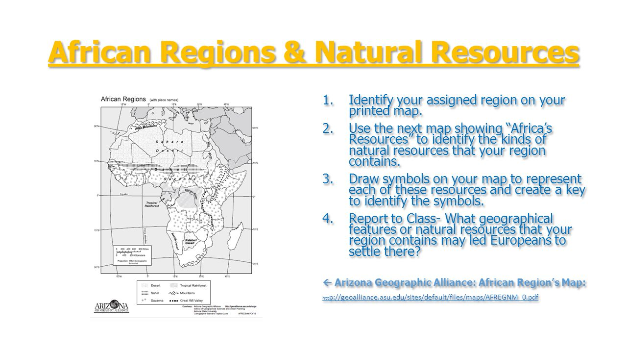 World history todays objective topic scramble for africa african regions natural resources 1entify your assigned region on your printed map buycottarizona