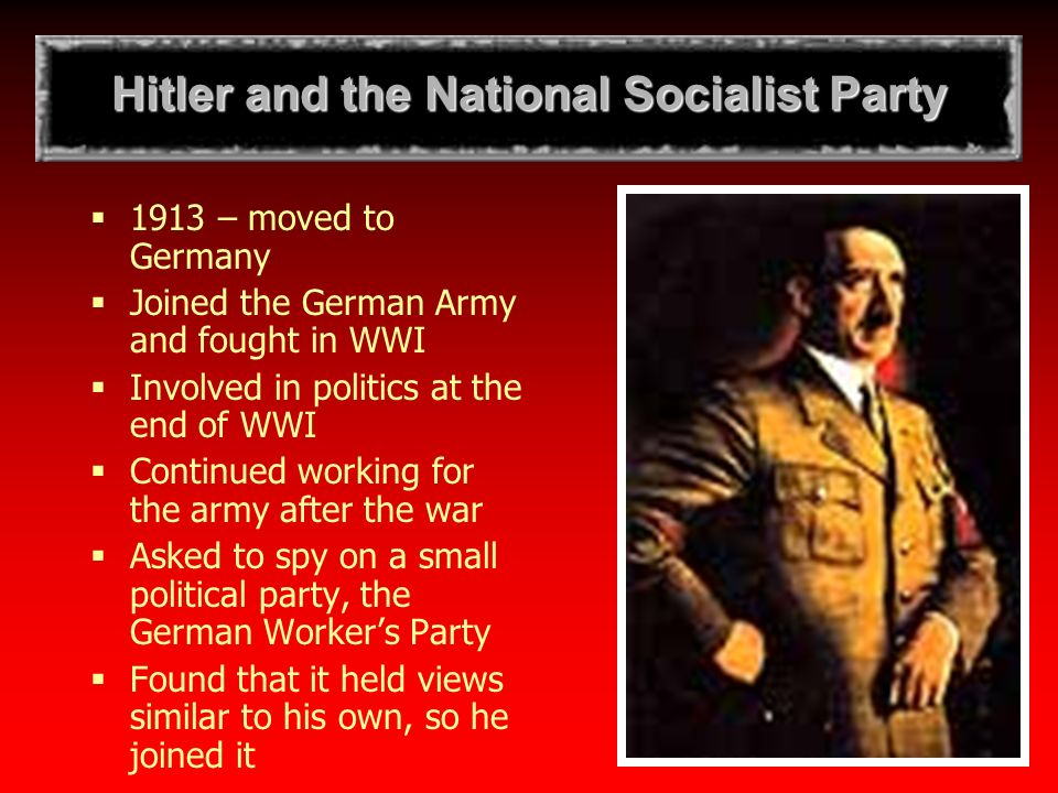 the history of the national socialist germany workers party in germany Principles and aims of the socialist unity party of germany for unity expressed by workers' parties of their history germany was turned.