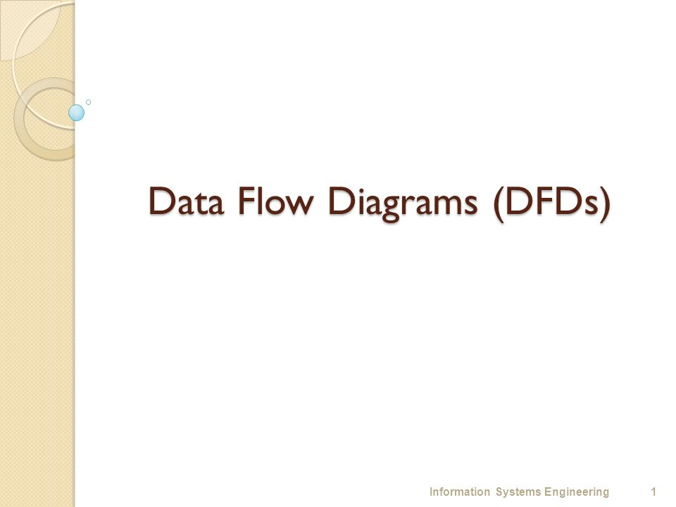 data flow diagrams dfds information systems engineering ppt 1 data flow diagrams dfds 1information systems engineering
