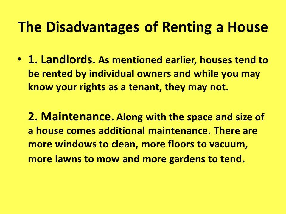 Pros And Cons Of Renting pros and cons of renting a house - home design