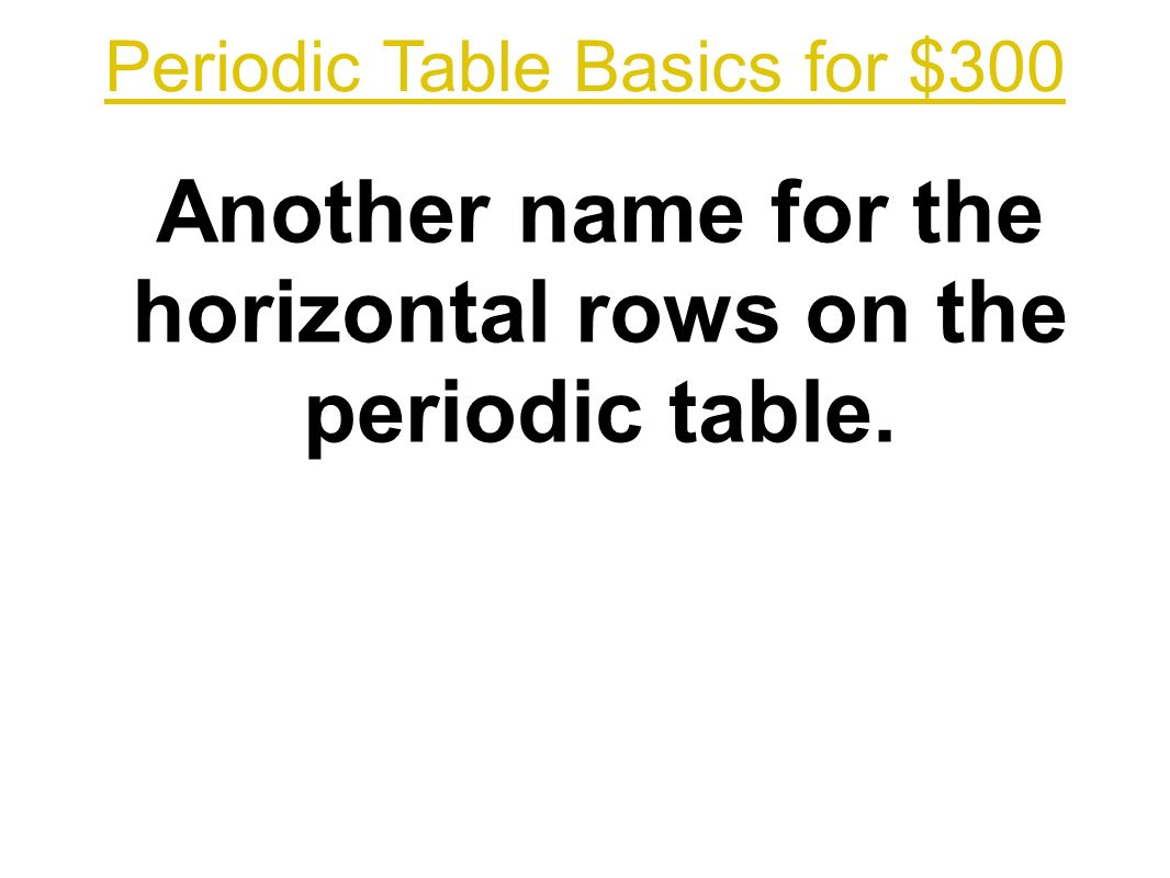 Adapted by t trimpe ppt download 39 periodic table basics for 300 another name for the horizontal rows on the periodic table gamestrikefo Choice Image