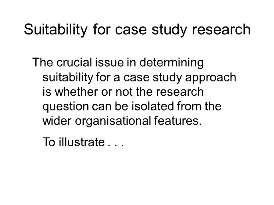 The Case Study as a Research Method - School of Information