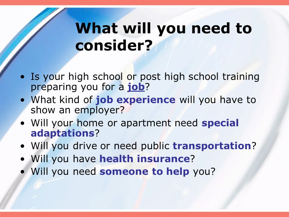 What is your high school experience?