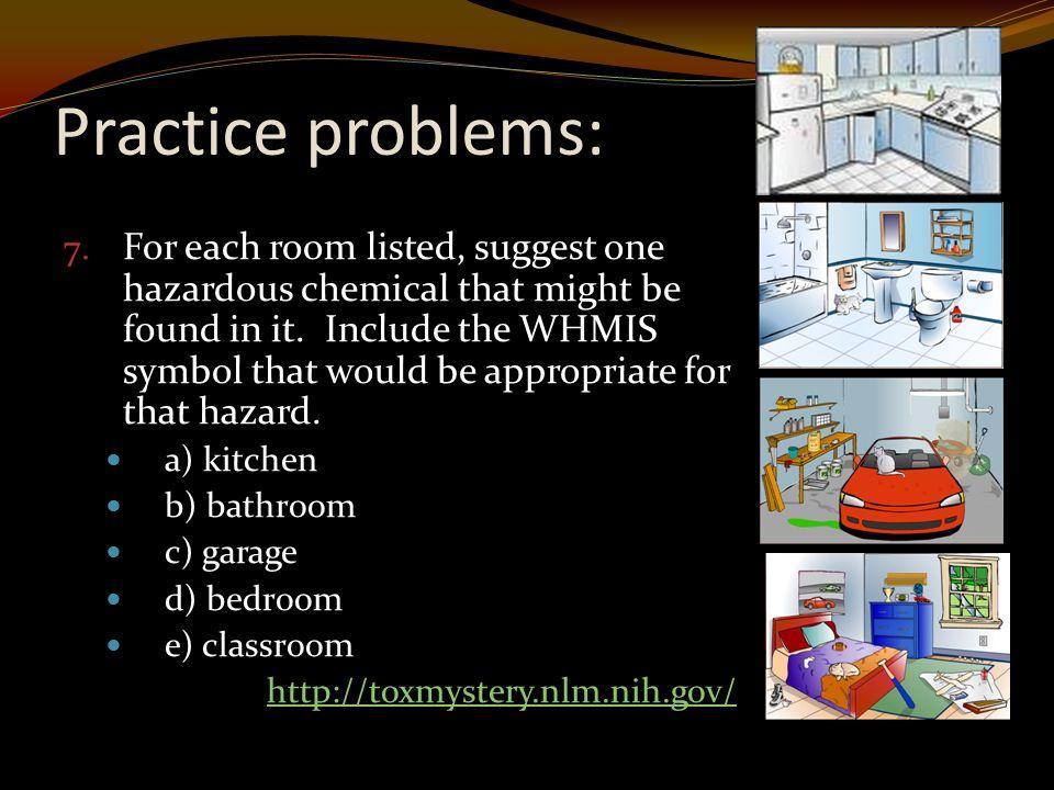 Practice problems: 7.
