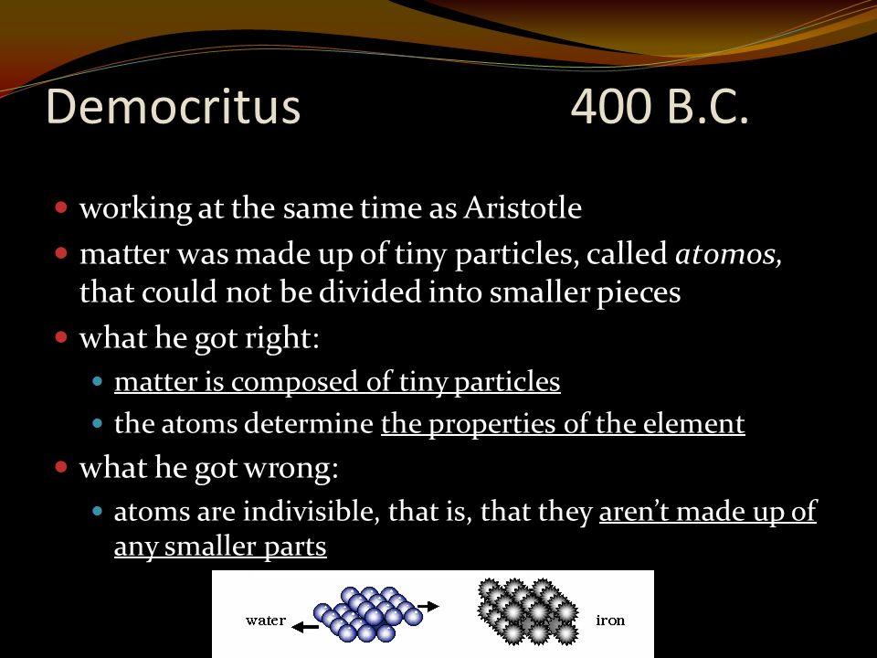 Democritus400 B.C.