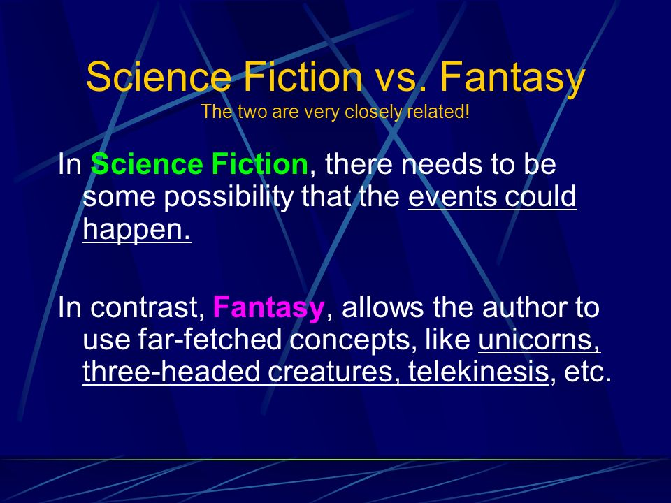 What are some elements of science fiction and/or fantasy?