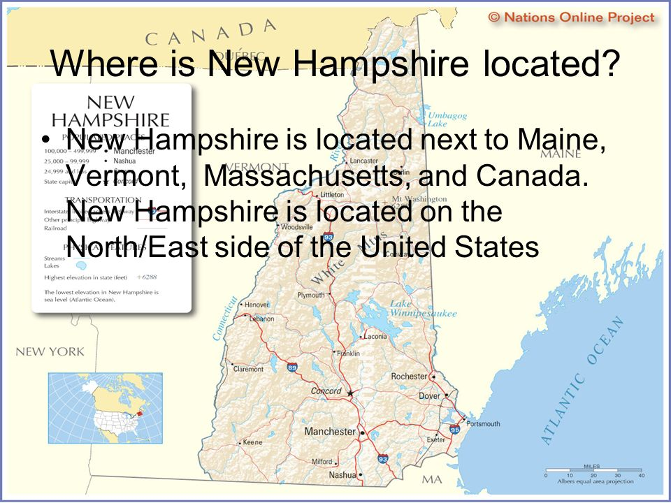 New Hampshire LIVE FREE OR DIE New Hampshires Coastline Come And - Where is new hampshire