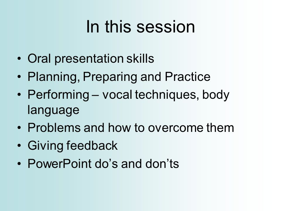 Presentation Skills Hilary M Jones. In This Session Oral
