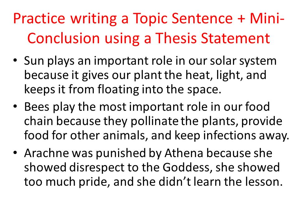 Writing Thesis Statements Practice