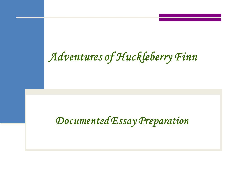 Creative title for huck finn essay?