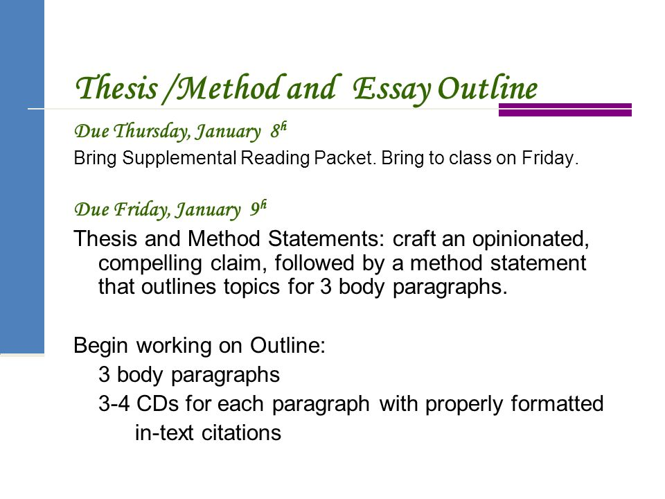 Thesis Method