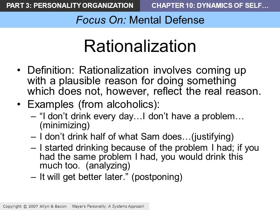 Part 3 Personality Organizationchapter 10 Dynamics Of Self Focus