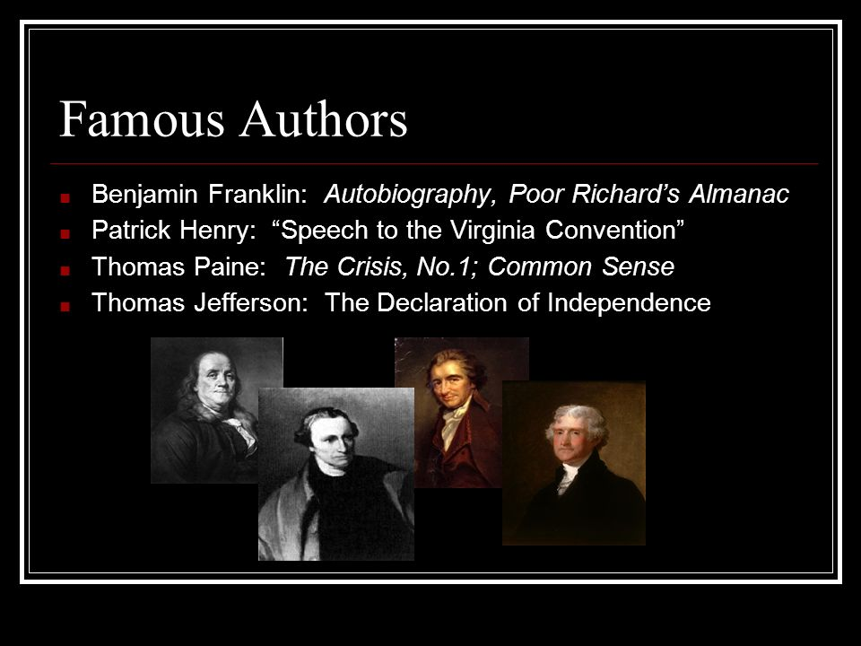 ben franklin and thomas paine