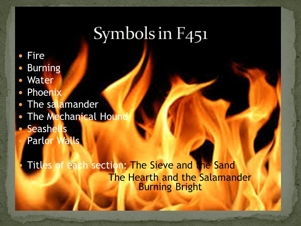 the use of symbolism in fahrenheit 451