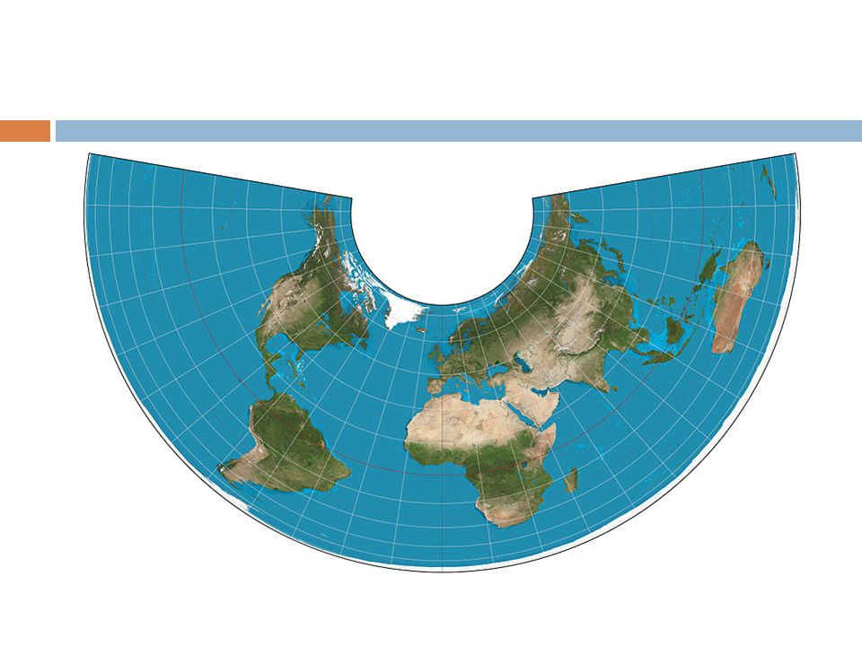 Map projections methods of presenting the curved surface of the 6 conic projection the top of the map is portrayed accurately but greater distortion of sizes and distances occurs further from the top gumiabroncs Image collections