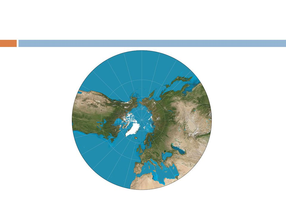 Map projections methods of presenting the curved surface of the 8 flat planeazumithal projection distances measured from the center are accurate so this is used by pilots and navigators to find the shortest distance gumiabroncs Images