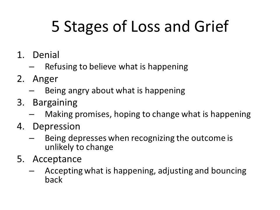 comparing the stages of grief in the book of job Lesson 2 of a series of bible studies on the book of job: 1:1-3:26 these chapters set the stage for the long dialogues second, they join job in grief.