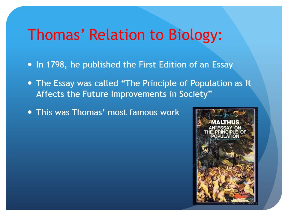 an essay on principle of population malthus