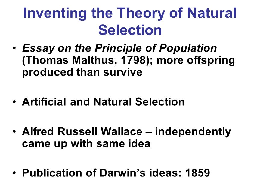 part i and chapter biology sixth edition raven johnson c the  14 inventing the theory of natural selection essay on the principle of population thomas