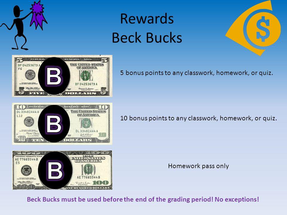 Homework bucks