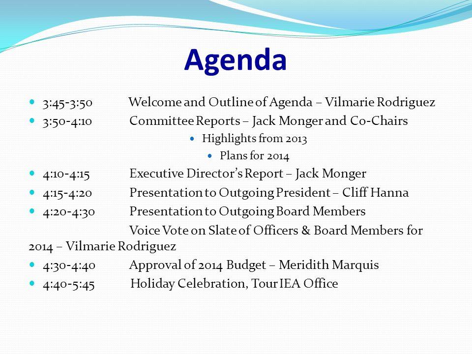 VigilucciS Coronado December  Agenda  Welcome And