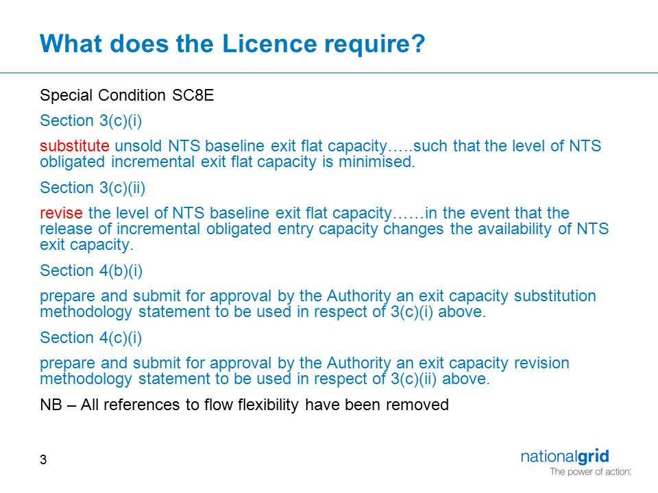 3 What does the Licence require.