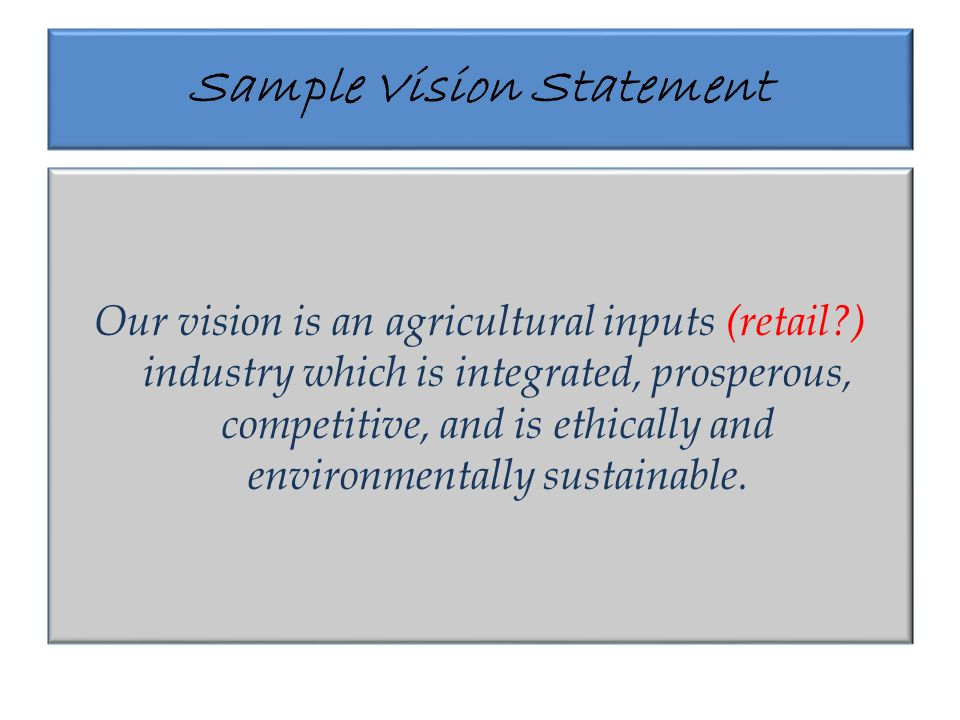 The Mission Statement A Mission Statement Is A Statement Of The
