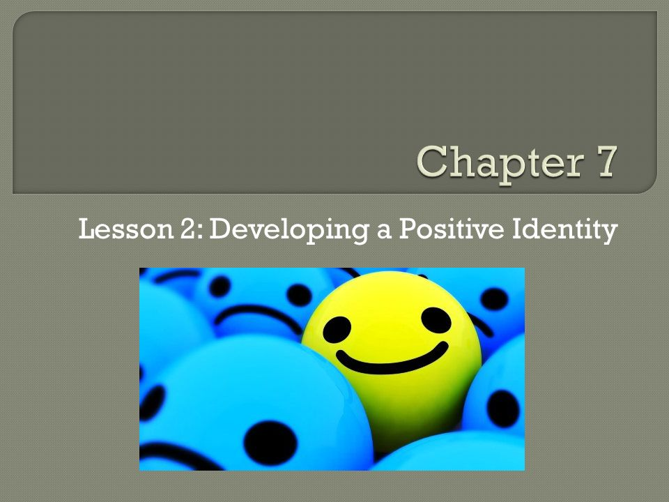 Lesson 2: Developing a Positive Identity