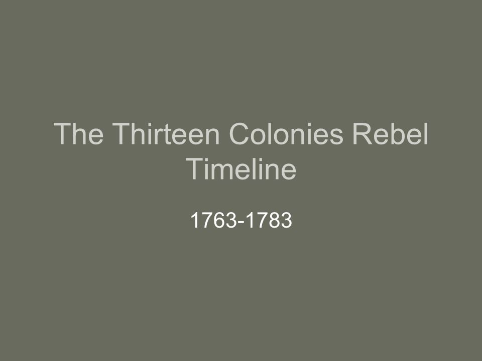 annotated timeline 1763 1783