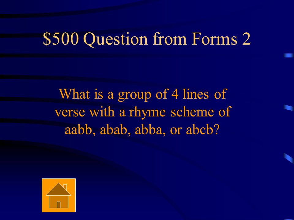 $400 Answer from Forms 2 It is a paragraph of poetry.