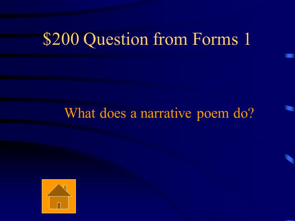 $100 Answer from Forms 1 Free verse