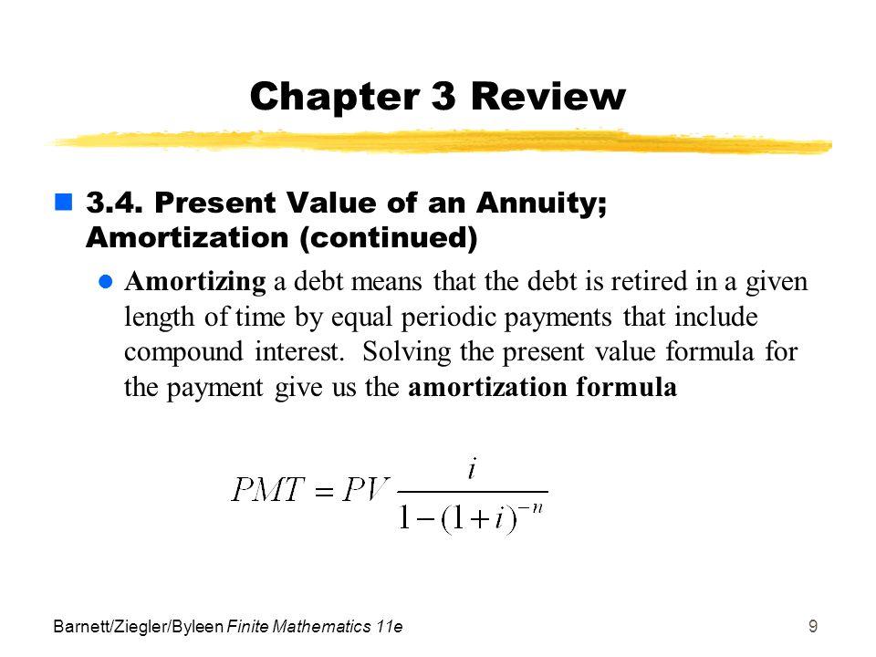 interest amortization formula