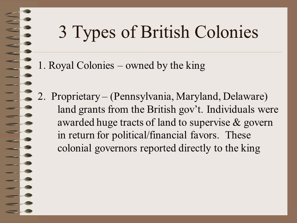 british proprietary colony A collection of genealogical profiles related to colonial governors of the bahamas proprietary governors of in 1717 the bahamas became a british crown colony.